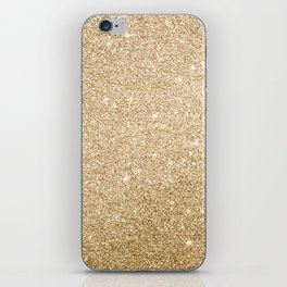 Modern abstract elegant chic gold glitter iPhone Skin