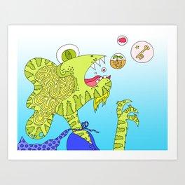 #144: Creative Burps Art Print