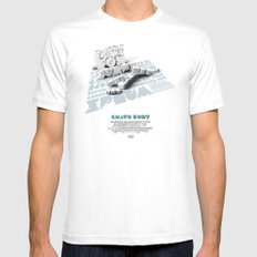Chato Font poster MEDIUM Mens Fitted Tee White
