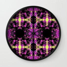 Purple & Black Tropical Orchids Extravaganza Art Wall Clock