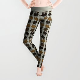 Red Fox Autumn Wreath Leggings