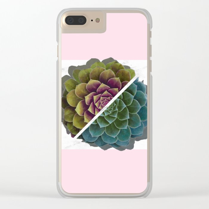 Succulent Clear iPhone Case