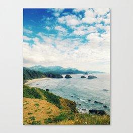 Ecola overlooking Haystack Rock Canvas Print