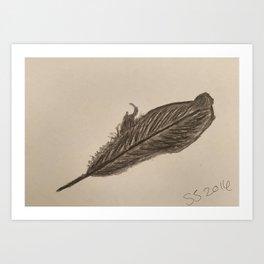 Raven Feather Art Print