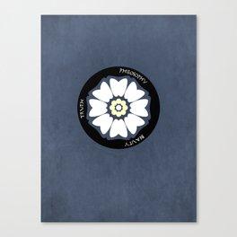 White Lotus Minimalist Canvas Print