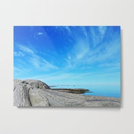 Seascape on the Rocks Metal Print
