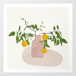 Lemon Branches Art Print