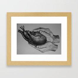 He Holds You Framed Art Print