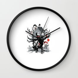 Horror Clubhouse Wall Clock