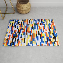 Building Blocks Pattern Multicolor  Rug