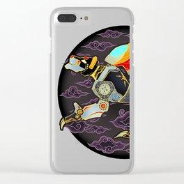 Black Lion Batik Clear iPhone Case