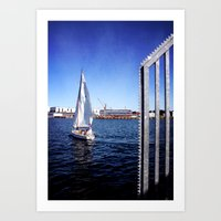sailing Art Prints featuring Sailing by LoRo  Art & Pictures