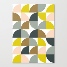 Abstract Geometrical Design in Soft Colors Canvas Print
