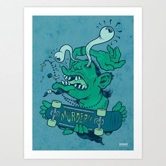 Der Shredder Art Print