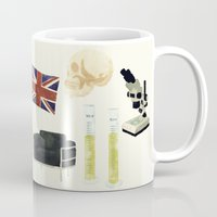 221b Mugs featuring 221B Baker Street by CHOCOMINT GEEK