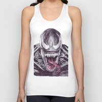 venom Tank Tops featuring Venom by DeMoose_Art