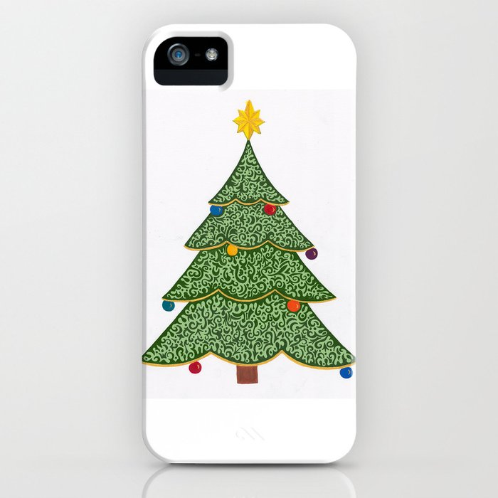Ornamental Christmas Tree 2 iPhone Case