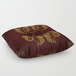 Letter A Seahorse Floor Pillow