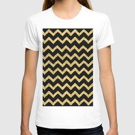 Chevron Black And Gold T-shirt