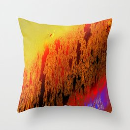 shimmer behind view Throw Pillow