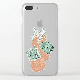 Succulent's Tiny Pots Clear iPhone Case