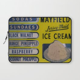 Vintage Ice Cream Sign 2 Laptop Sleeve