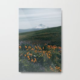 Mount Hood Blooms II Metal Print