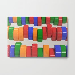 Colorful cylinders Metal Print