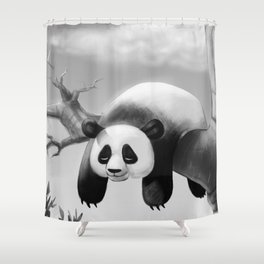 Hang In There, Panda! Shower Curtain