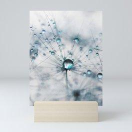 dandelion blue Mini Art Print