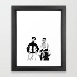 Cole Uzumaki x Kendrick Uchiha Framed Art Print