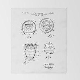 Magic Eight-Ball Patent Throw Blanket