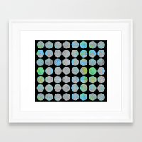 dots Framed Art Prints featuring Dots  by LebensARTdesign