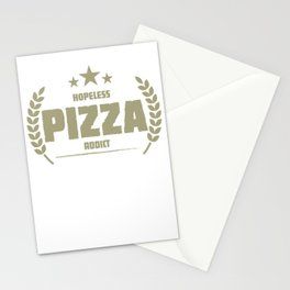 Hopeless Pizza Addict Funny Addiction Stationery Cards