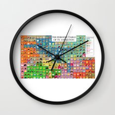 The Periodic Table of TV Animation Wall Clock