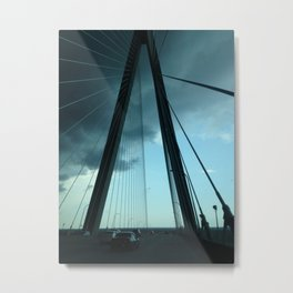 On a Bridge in Charleston Metal Print
