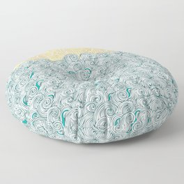 Sunny Tribal Seas Floor Pillow