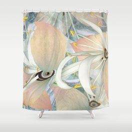 Planet of Flowers Abstract Shower Curtain