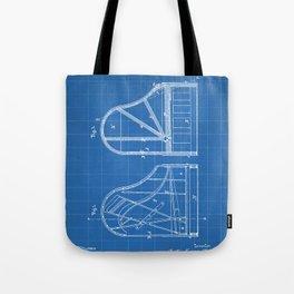 Steinway Grand Piano Patent - Piano Player Art - Blueprint Tote Bag