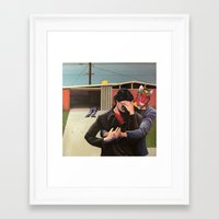 mid century modern Framed Art Prints featuring Mid Century Modern by Popcorn Jones
