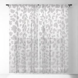 Silver Leopard Sheer Curtain