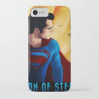man of steel iPhone & iPod Cases featuring Man of Steel by sevillaseas