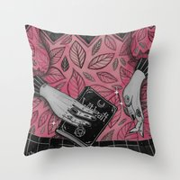 loll3 Throw Pillows featuring Witchcraft by lOll3