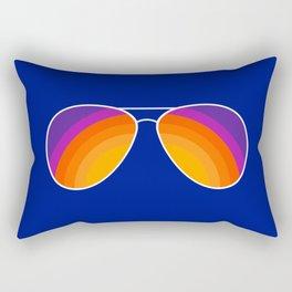 Rainbow Shades Rectangular Pillow
