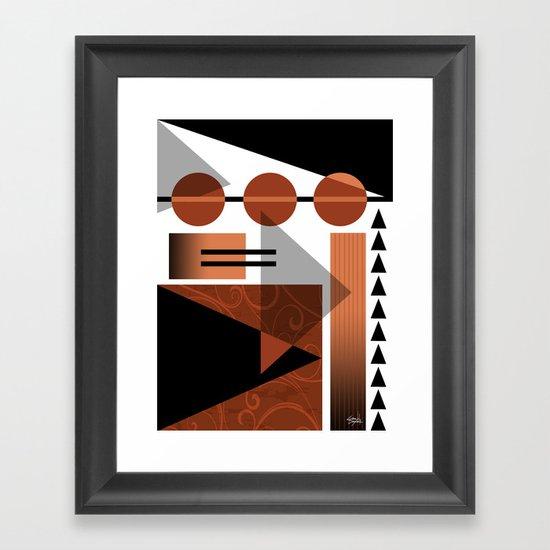 AZTEC DESERT | brown Framed Art Print