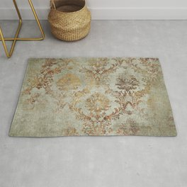 Aged Damask Texture 3 Rug