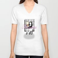flawless V-neck T-shirts featuring Flawless by irokart