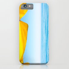 Yellow Beach Brolly with Blue Sea and Sky Slim Case iPhone 6s