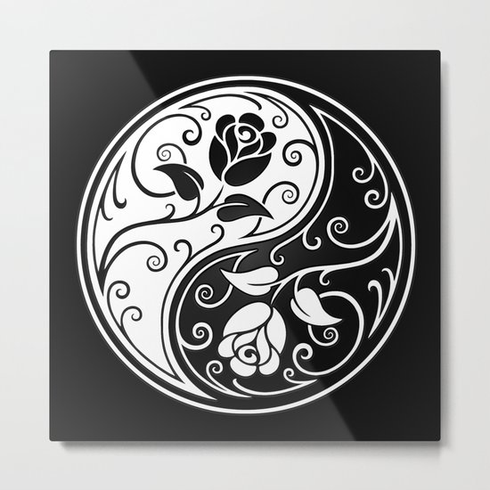 Black and White Yin Yang Roses by jeffbartels
