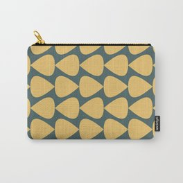 Plectrum Pattern in Mustard Yellow and Teal  Carry-All Pouch
